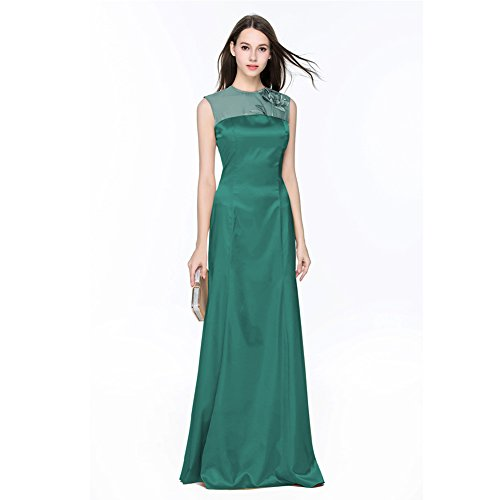 Gown Women's cotyledon Dresses Sleeveless Mermaid Green Prom Mesh Neck 4qESycUqZ