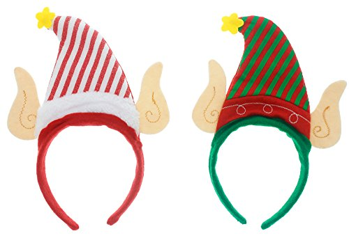 [Headband Elf Hat with Ears - 2 Pack with Striped Hats] (Lord Of The Rings Child Arwen Costume)