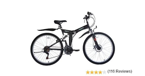 Ecosmo 26Sf02Bl - Bicicleta Plegable (Suspensión, Más de 18 ...