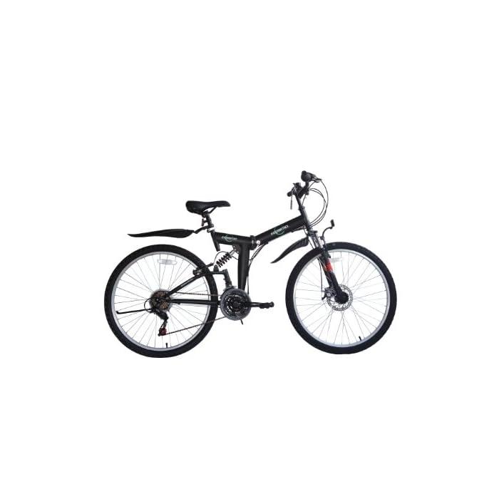 Ecosmo 26Sf02Bl – Bicicleta Plegable (Suspensión, Más de 18 Velocidades)