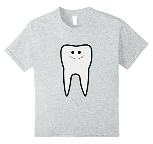 Tooth Fairy Costume Kids (Kids Tooth dental Fairy T-Shirt Cute Halloween Costume 10 Heather Grey)