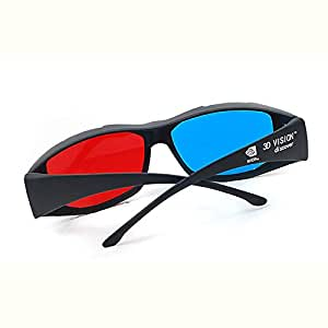 Nvidia 3D Vision Ultimate 2X Red & Cyan 3D Glasses Fits Over Prescription Glasses For 3D Movies, Gaming And Tv (1X Clip On ; 1X Anaglyph Style)