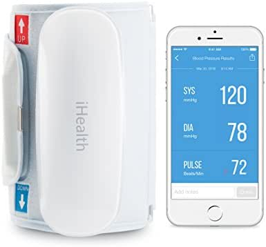iHealth Feel Wireless Blood Pressure Monitor for Apple and Android with Extra Large Cuff