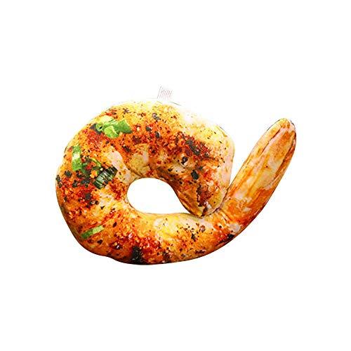 Balai Grilled Shrimp U Shaped Neck Pillow Throw Pillow Cushion Plush Toy for Home Decor
