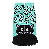 WZW025 3D Printed Socks, Unisec Print Multicolor Toe Socks Five Finger Socks Cotton Funny Socks