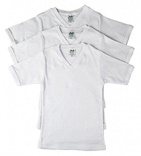 Jack 'n Jill Boys 100% Cotton V-neck T-shirt In Solid White (3 Pack) Size 16 by Jill and Jack (Image #1)