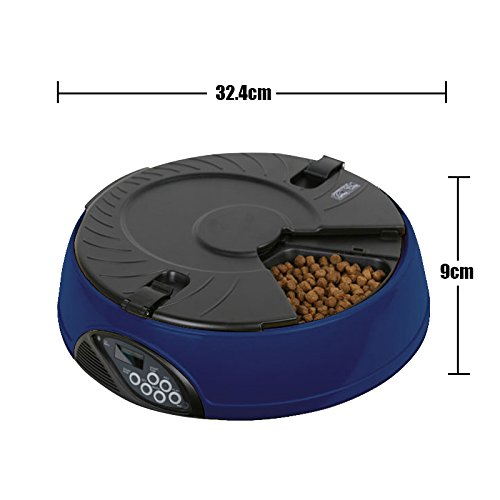 Automatic Pet Feeder, PAWSFIESTA Automatic Dog & Cat Feeder with Programmable Timer and Voice Recorder Dogs & Cats Timer Food ...