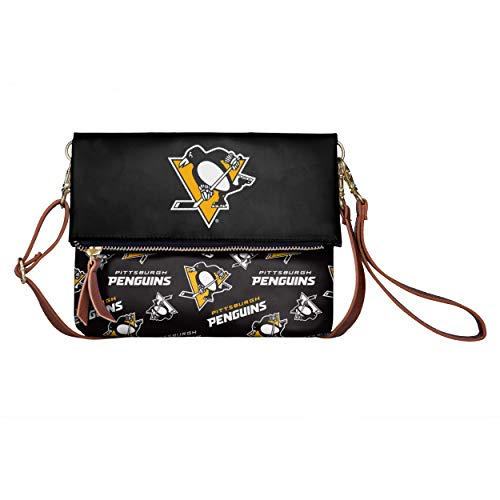 FOCO NHL Pittsburgh Penguins Womens Printed Collection Foldover Tote Bagprinted Collection Foldover Tote Bag, Team Color, One Size