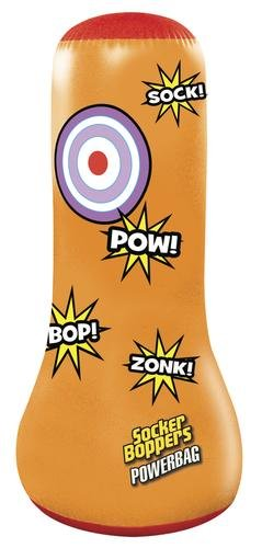 TOUGH DURABLE Made Of 12-Gauge Vinyl And Wider At The Bottom For Stability 42'' Socker Boppers Power Bag - Perfect For Developing Interest in Self Defense And Good For Fun Workout Or Stress Reliever by Generic
