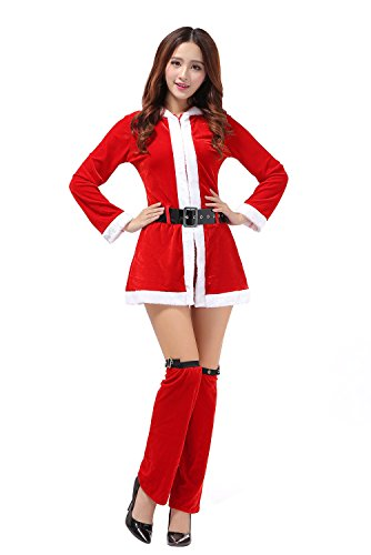 [DH-MS Dress Christmas Female Red Dress Skirt] (Madonna Costume Plus Size)