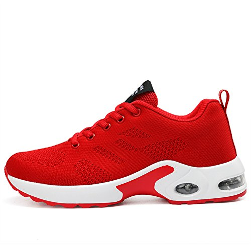 Shoes New Gym Trainers Trainer Air Shoes Red Running Women's Fitness Lightweight Unisex Sports Jogging Trainers Running Shock kashiwu Absorbing qOpXdW6q