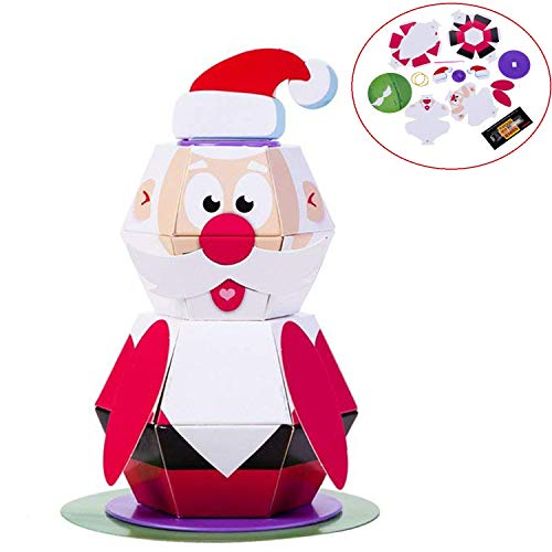 MISS FANTASY Christmas Games Jumping Santa Claus Origami Toys Xmas Party Activities for Kids Christmas Tree Hanging Ornaments