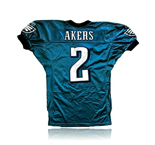 DAVID AKERS GAME USED/ISSUED PHILADELPHIA EAGLES SIGNED JERSEY AUTOGRAPH JSA