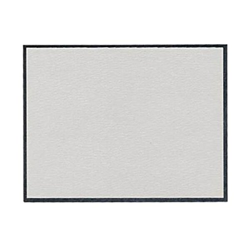 JAM PAPER Blank Flat Note Cards - 4 1/4 x 5 1/2 (Fits in A2 Envelopes) - Grey Linen with Silver Foil Trim - 500/Pack