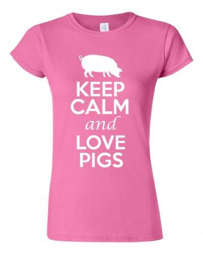 Keep Calm and Love Pigs Junior T-Shirt Tee