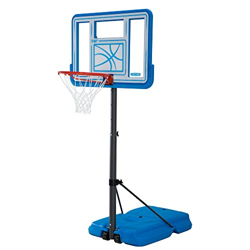 Lifetime 90742 Pool Side Adjustable Portable Basketball Hoop, 44-Inch Polycarbonate Backboard