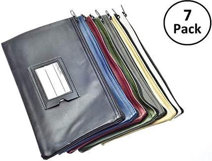 Deposit Pouches Zipper Closure Multi Color