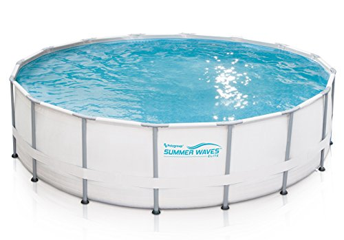 Summer Waves Elite 16'x48 Frame Pool with SkimmerPlus Filter Pump System - Elite Pool Covers