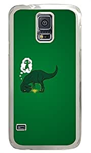 Samsung S5 case waterproof cover Dinosaur Dream Funny Picturess PC Transparent Custom Samsung Galaxy S5 Case Cover