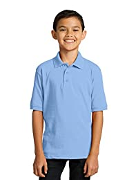 Port & Company® Youth Core Blend Jersey Knit Polo. KP55Y Light Blue S