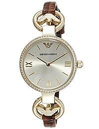 Emporio Armani Women's Gianni AR1885 Brown Leather Quartz Watch
