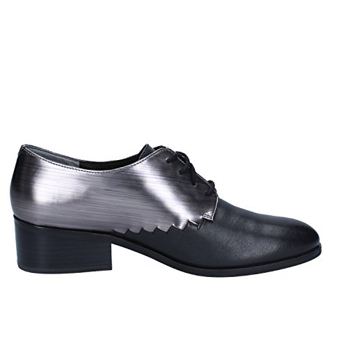 Donna 40 EU Nero Pelle What For Shoe Oxford Classiche wRIqU