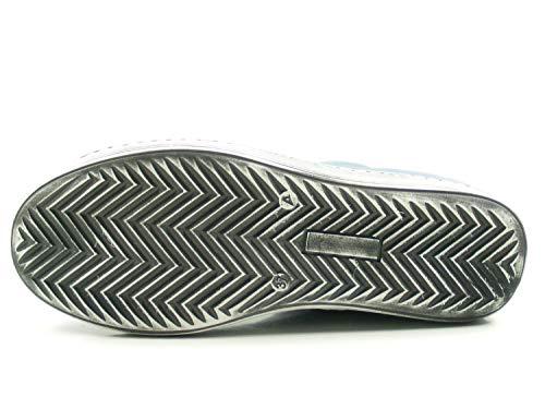 Zapatos Andrea 0341500 Azul Cuero Mujer De Conti Para wqTEWqCF