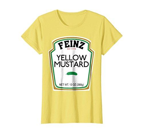 Womens Mustard Matching Best Friend Halloween Costume T-Shirt Small Lemon for $<!--$16.99-->