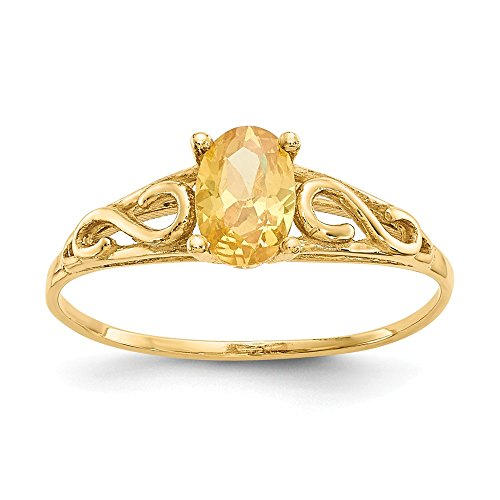 14k Yellow Gold Madi K Synthetic Citrine Ring Size 5