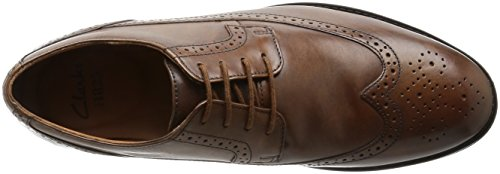 Clarks Vestir Hombre Beckfieldlimit Piel Zapatos De Standard Passform Tamaño 46