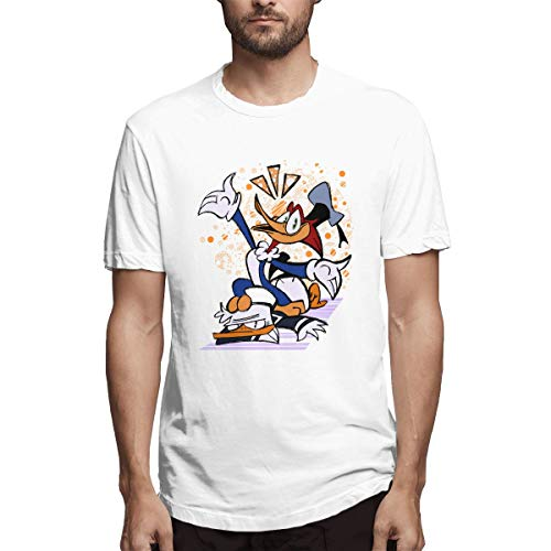 Fnh Woody Woodpecker Donald Duck Cartoon Men's Tees L White ()