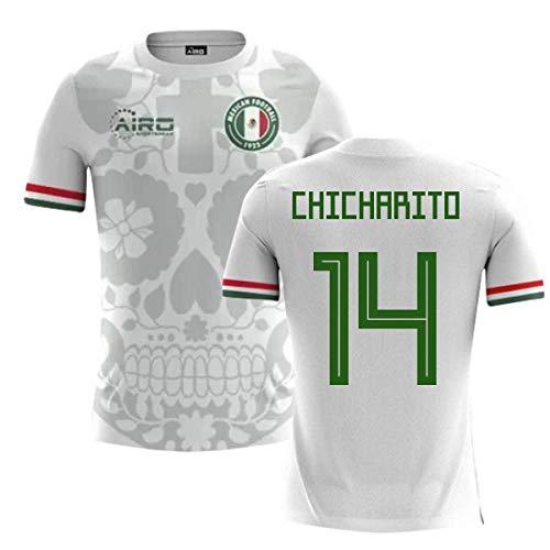 - Airosportswear 2018-2019 Mexico Away Concept Football Soccer T-Shirt Jersey (Javier Hernandez 14) - Kids