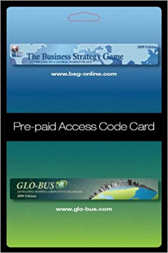 Business Strategy Game (BSG) Glo-Bus Pre-paid Access Code Card: Not