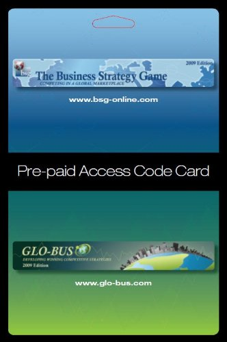 Business Strategy Game (BSG) Glo-Bus Pre-paid Access Code...