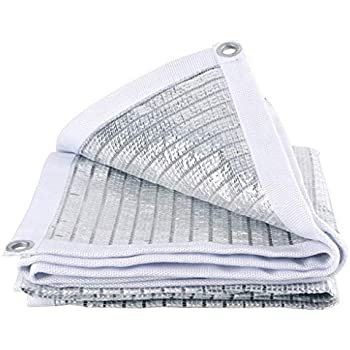 Reflective Aluminet Shade Cloth White Sunblock Shade Net 90/% of UV Resistant Size : 1x1m 3x3ft Premium Garden Shade Mesh Tarp Top Shade Netting Panel Flowers Plants Protection Car Roof Cover