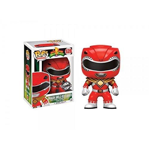 Funko Pop! Television Mighty Morphin Power Rangers Red Ranger #528 (Dragon Shield)