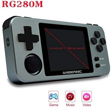 N/P RG280M ハイマッチ ポータブルゲーム機 Retro Game システム 振動モーター 2.8インチIPSスクリーンを、内蔵1000ゲーム シミュレータ互換機ルゲーム機 advantageous