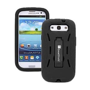Greatshield TUFF funda para teléfono móvil Negro - Fundas para teléfonos móviles (Funda, Samsung, Galaxy S3 S III, Negro)