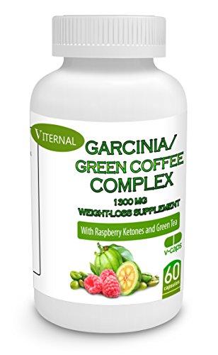 * Гарцинии камбоджийской комплекс Viternal с зеленой Coffee Bean Extract с 50% HydroxyCitric кислоты (HCA) + зеленый Coffee Bean экстракт (50% хлорогеновая кислота) ** + Pure Raspberry Кетоны Экстракт + Зеленый чай с выводами для оптимальный тип Pure Blen