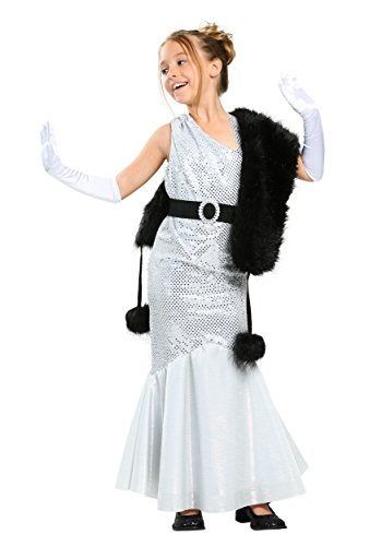 Girls Silver Movie Star Costume Small (6) -