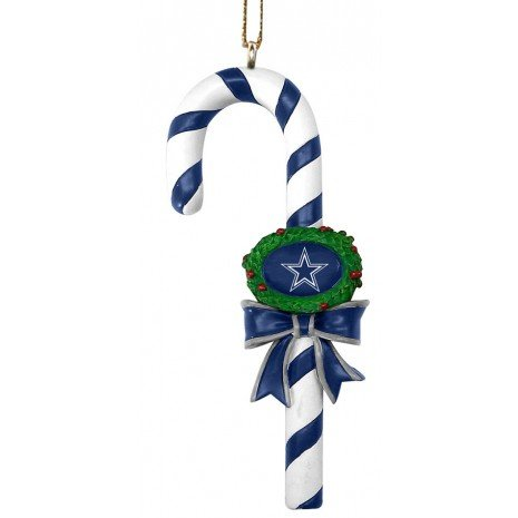- The Memory Co Dallas Cowboys Resin Striped Candy Cane Ornament