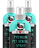 New Premium Pet Dental Spray (240ml): Best Way to Eliminate Bad Dog Breath & Bad Cat Breath Naturally Fights Plaque, Tartar & Gum Disease Without Brushing Spray in Mouth Or Add to Water 1 btl