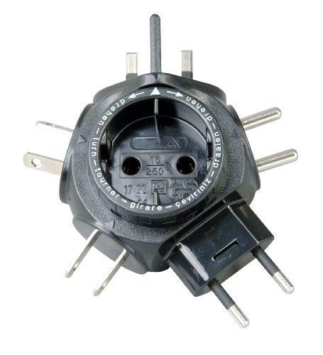Kopp Elektrotechnik Kopp World Travel Plug Adapter Travel Star With Convenient Travel Bag  Black By Kopp Elektrotechnik