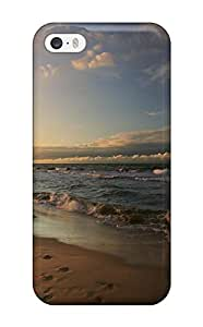 New Arrival Footprints On A Beach Earth Nature Beach KqABmBl7459gLDgv Case CoverCase For Sam Sung Galaxy S5 Cover