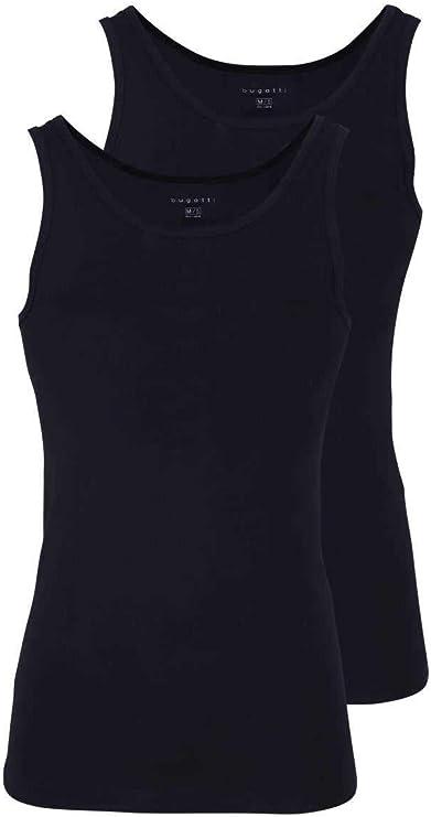 Bugatti 2-Pack para Hombre, Camiseta sin Mangas, Cuello Redondo, Camiseta, Liso: Colour: Black   Size: XX-Large: Amazon.es: Ropa y accesorios