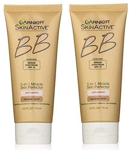 Garnier SkinActive BB Cream Face Moisturizer Anti-Aging, Medium/Deep, 2.5 fl. oz.