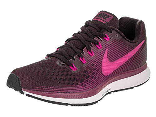NIKE Women's Air Zoom Pegasus 34 Port Wine/Deadly Pink Running Shoe 7 Women US by NIKE