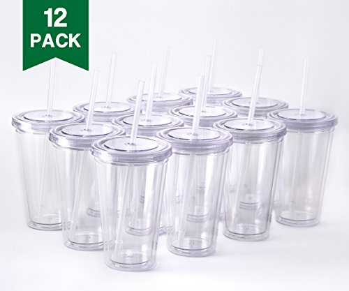 Reusable Plastic Cup With Lids And Straws Amazon Com