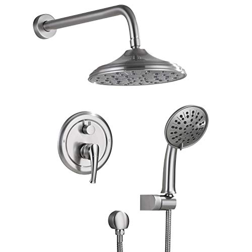 Shower System, Wall Mounted Shower Faucet Set for Bathroom with High Pressure 8