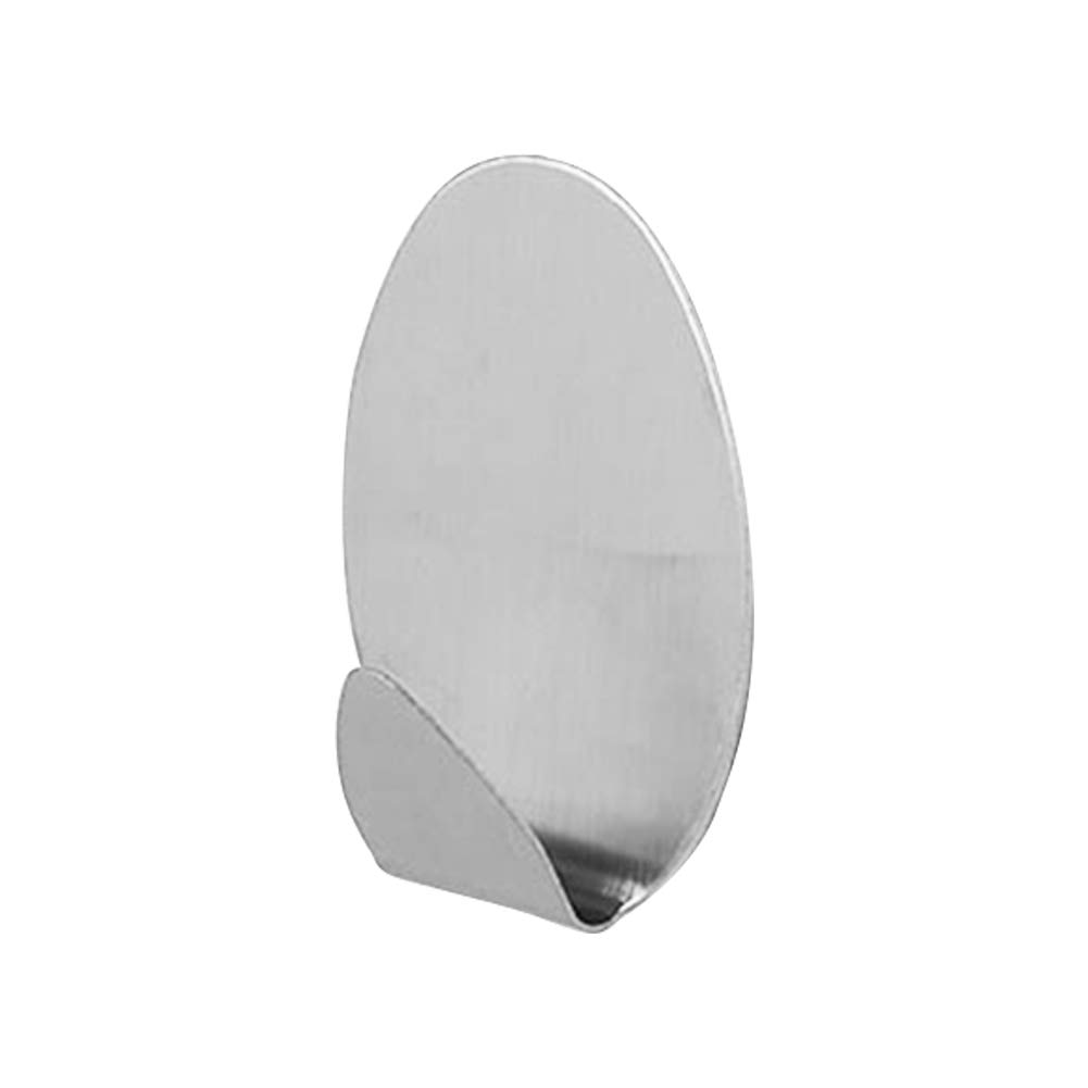 Ganchos autoadhesivos Bclaer72, 4 unidades, multifuncionales, de acero inoxidable, redondos, sin costuras, resistentes al agua, para cocina, baño, oficina, ...